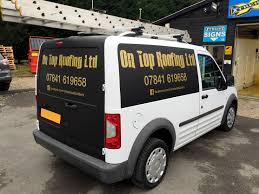 van graphics for horley property maintenance in black and chrome