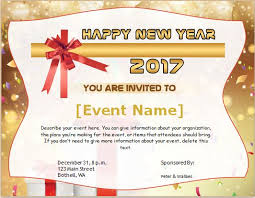 Happy New Year Invitation New Year Invitation Cards For Ms Word Word Document Templates