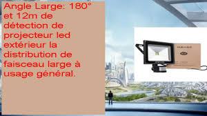 le exterieur avec detecteur de mouvement meikee 50w projecteur led avec détecteur de mouvement luminaire