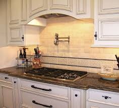 traditional kitchen backsplash best traditional kitchen faux tile backsplash idea with modern stove