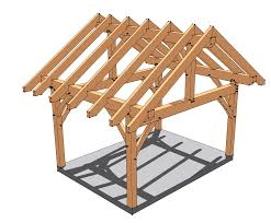 12x16 timber frame porch originally designed for a front porch this plan is well suited for a shed pavilion or just
