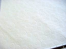 vintage decorator fabric floral jacquard textured weave in ivory