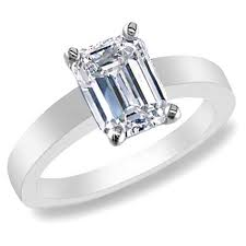 solitaire emerald cut engagement rings emerald cut rings