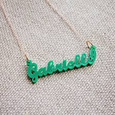 acrylic name necklace district17 acrylic name necklace script jewelry personalized items