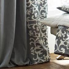 dwell studio linen grey curtain panel