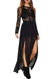 maxi dress with sleeves maxi dresses with lace white black print sleeve oasap fashion