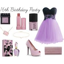 16th birthday party polyvore