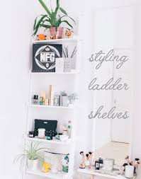 styling ladder shelves u2014 from roses