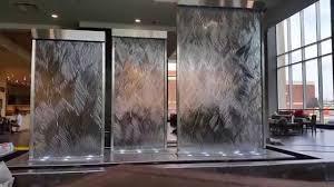 custom glass water walls u0026 indoor waterfalls unique indoor water