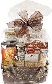 Houdini Gift Baskets Paris Scene Fabric Tote Gift Basket Filled With Goodies Amazon