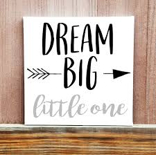 dream big little one hand painted canvas baby room decor