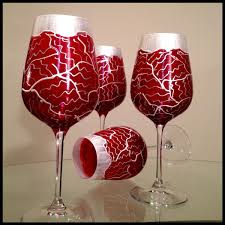 hand made hand painted wine glasses custom valentine u0027s day tudor