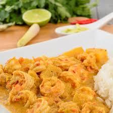cuisine crevette recette crevettes au curry et lait de coco