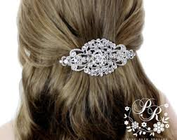 hair barrette wedding barrettes etsy