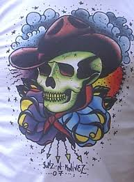 mind blowing cowboy skull tattoo design