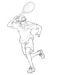 tennis coloring pages bestofcoloring com