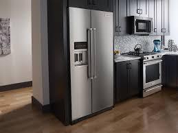 kitchenaid cabinet depth refrigerator kitchenaid 22 7 cu ft side by side counter depth refrigerator