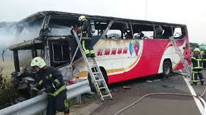 party bus outside 26 people including 24 mainland chinese killed in tour bus blaze