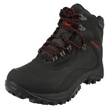 mens merrell waterproof boots iceclaw mid j41907 9 black ebay