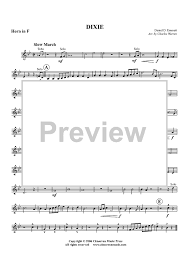 dixie horn in f sheet music music for piano and more