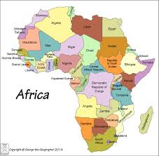 Africa Map Of Countries by Outline Base Maps