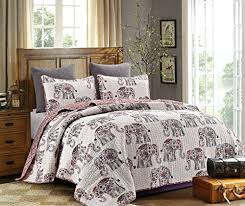 Elephant Print Comforter Set Elephant Bedding Amazon Com
