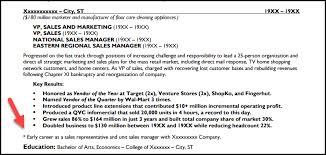 Resume Dates 5 Easy Ways To Makeover Your Sales Resume Now Distinctive Documents