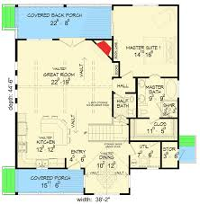 house plans floor master back woods 3 bed house plan 68401vr architectural designs