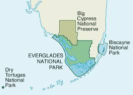 Florida national parks images Map of south florida national parks 1994 gif