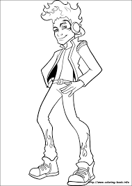 monster boy coloring pages funycoloring
