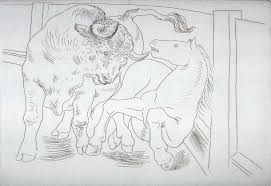 taureau et cheval bull and horse pl 3 from the set of etchings