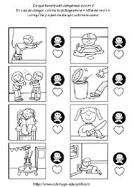Coloriage educatif  Vocabulairedanger
