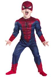 halloween costumes toddler toddler spider man movie muscle costume halloween costumes