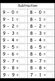 kindergarten subtraction free printable worksheets