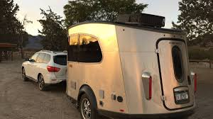 subaru camping trailer airstream basecamp two person travel trailer review