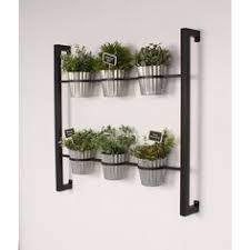Hanging Wall Planters Build From Dollar Store Supplies For My Herb Garden Garden Deck