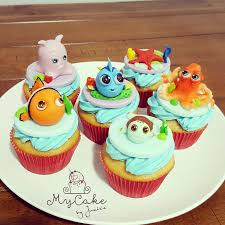 finding dory nemo cupcakes cake by hopechan cup cakes