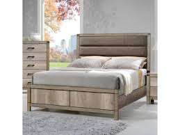 crown mark matteo queen upholstered low profile bed dunk