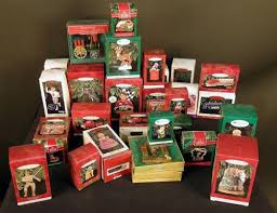 box lot of 30 of the hallmark ornaments