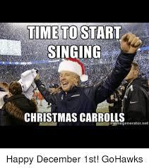December Meme - time to start singing christmas carroll meme generator net happy