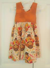 thanksgiving dress handmade dress turkey dress baby dress