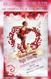 free valentines dancing flyer template psd template