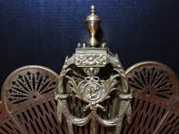 brass peacock fireplace screen antique fireplace screen mantle