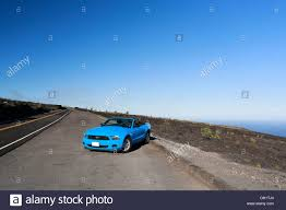 sky blue mustang sky blue ford mustang convertible by the sea big island hawaii