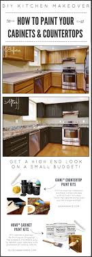 should i paint cabinets before installing countertop diy kitchen makeover on a budget before and after giani