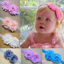 baby bands baby girl headbands hairbows shabby chic kids roses hair bands