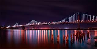 Bay Bridge Lights Lights Alive San Francisco Bay Bridge Lights Landscape Cityscape