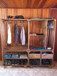 best 25 pallet closet ideas on pinterest pallet wardrobe
