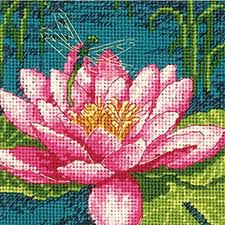 dimensions crafts needlepoint kit bouquet on black