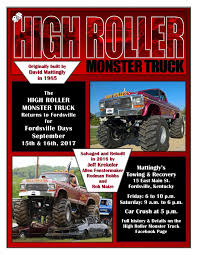 bigfoot monster truck schedule high roller monster truck